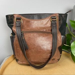 The SAK brown leather tote